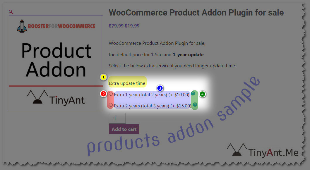 products addons sample tutorial